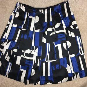 Silk Ralph Lauren geometric circle skirt size 12